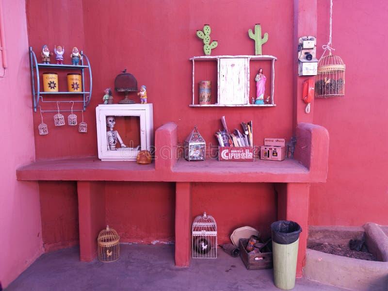 Design de interiores mexicano da decoração da casa do estilo espanhol do Chile fotos de stock royalty free