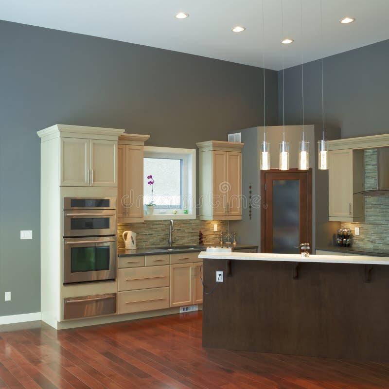 Design de interiores moderno da cozinha fotografia de stock royalty free