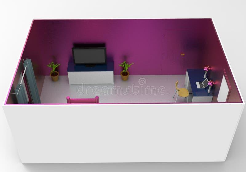 Design de interiores simples para a sala acolhedor ilustração do vetor