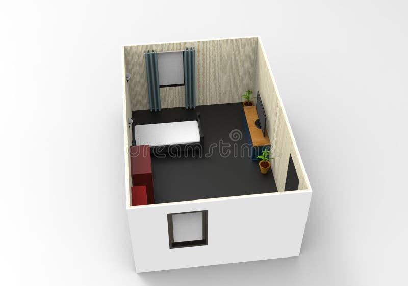 Design de interiores simples para a sala acolhedor ilustração royalty free