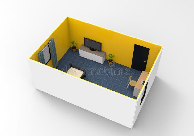 Design de interiores simples para a sala acolhedor ilustração stock
