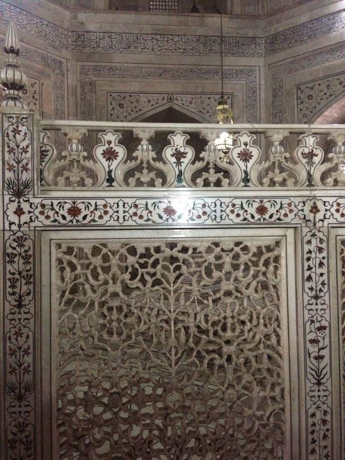 Design de interiores de Taj Mahal foto de stock