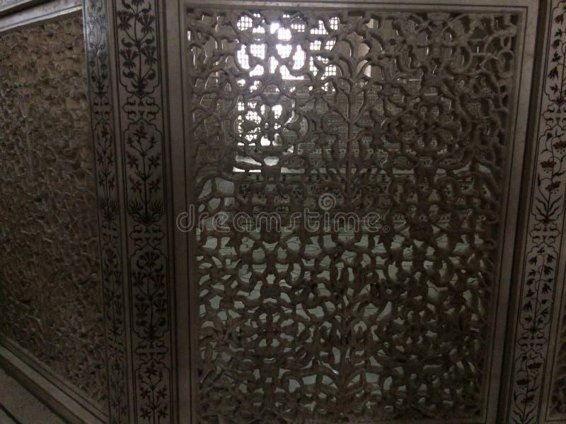 Design de interiores de Taj Mahal imagens de stock