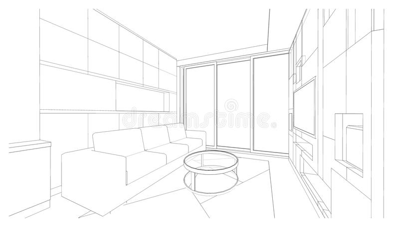 Design de interiores: vida imagens de stock
