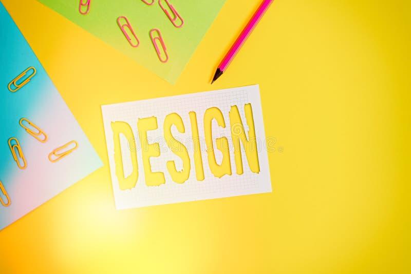Design de texto de escrita do Word Conceito de negócios para desenho de plano produzido para mostrar a função de aparência ou o f imagens de stock