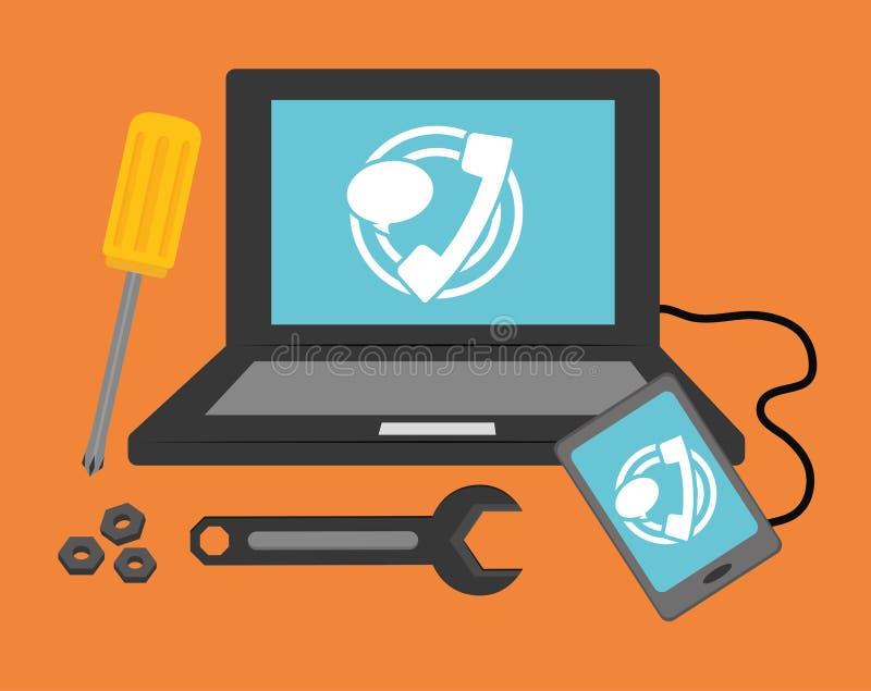 Design des technischen Services vektor abbildung