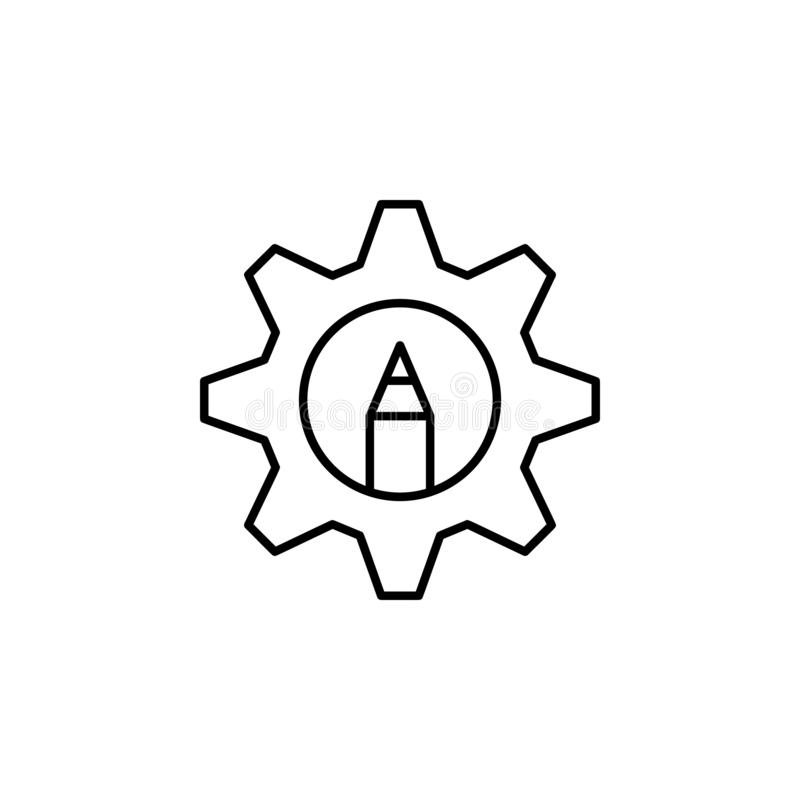 design, development icon. Simple outline vector of Web Design Development  set icons for UI and UX, website or mobile application vector illustration