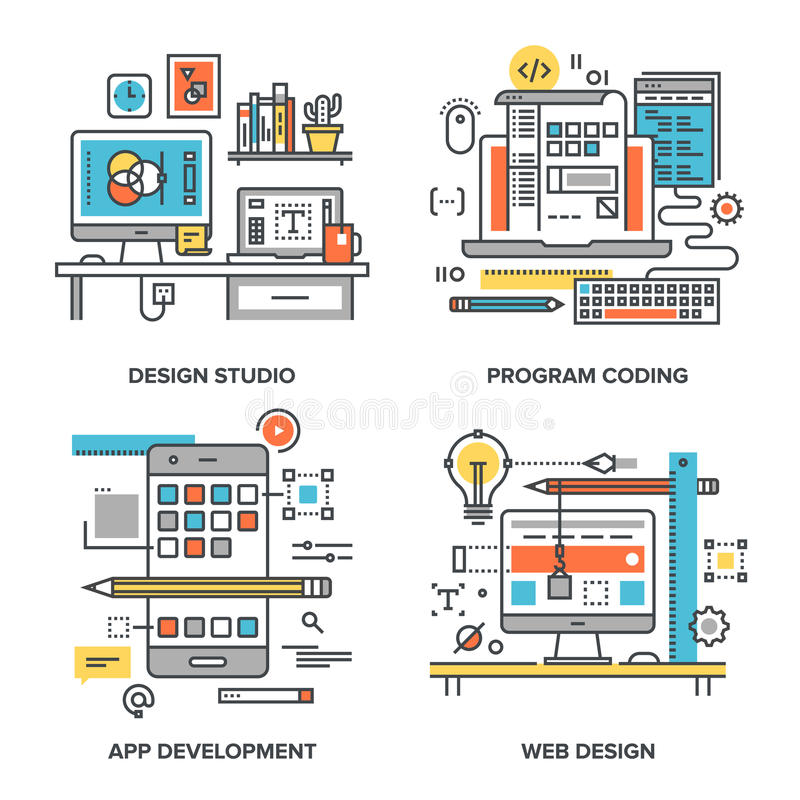 Design and Development vector illustration