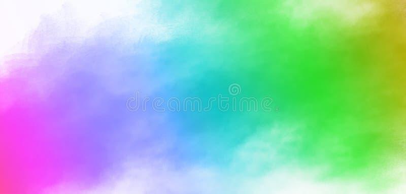 Design di sfondo Holi festival di splashing a colori con spazio di copia immagine stock