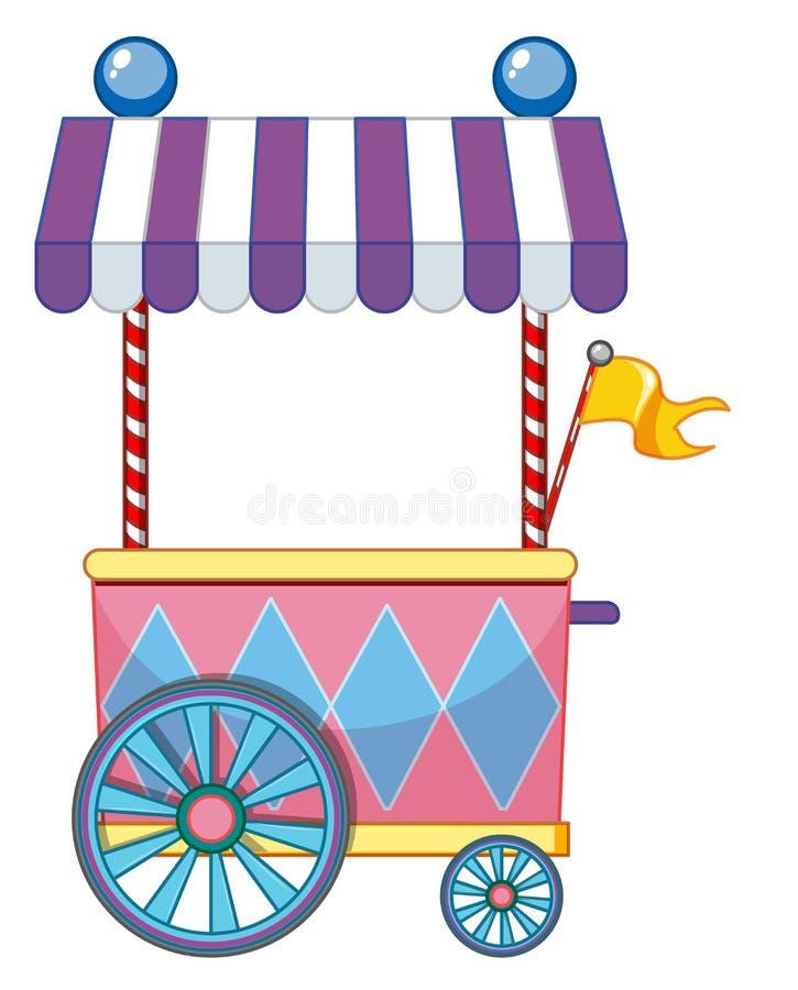 Design do fornecedor no funfair com floco amarelo ilustração royalty free