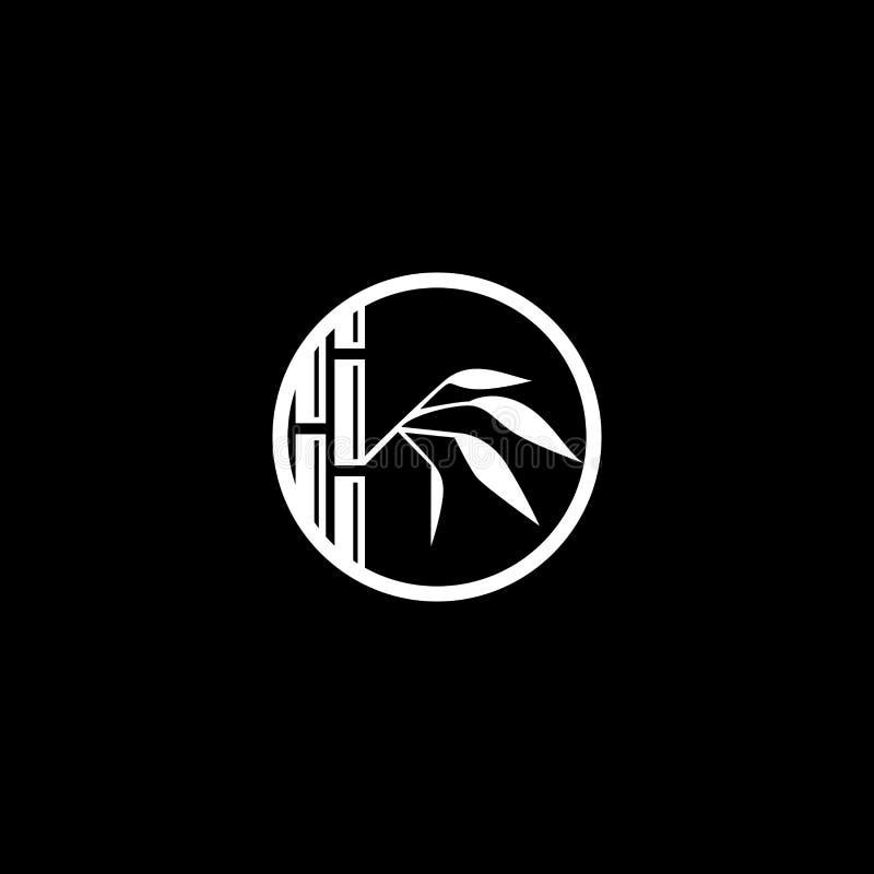 Design do logotipo Bamboo foto de stock