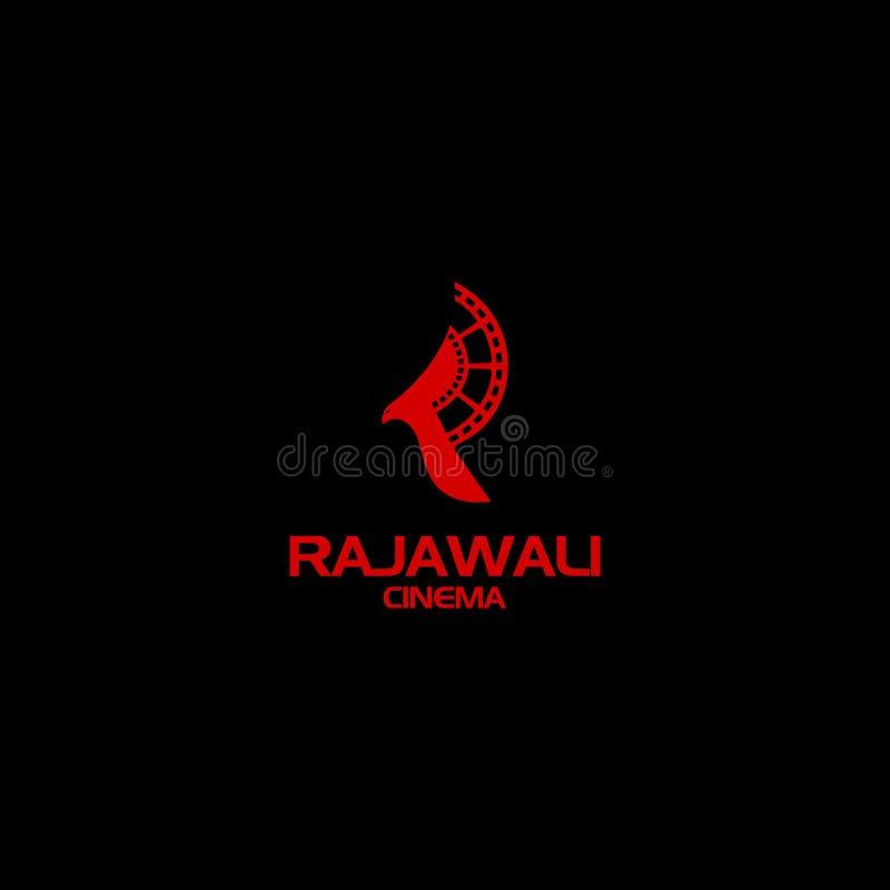 Design do logotipo Cinema Rajawali imagem de stock royalty free