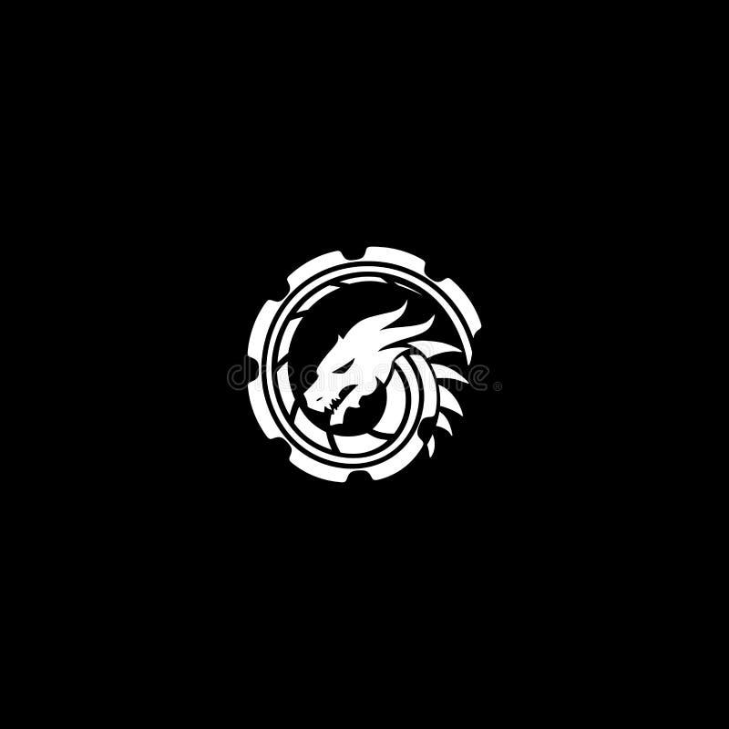 Design do logotipo Dragon imagem de stock royalty free