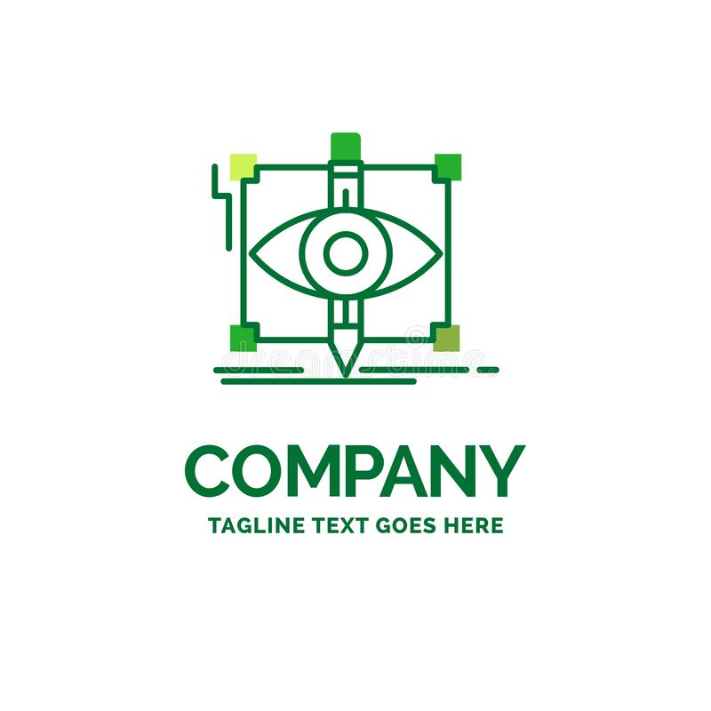 Design, draft, sketch, sketching, visual Flat Business Logo temp. Late. Creative Green Brand Name Design royalty free illustration