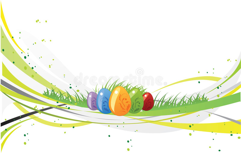 design easter royaltyfri illustrationer