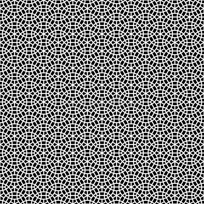 Design-einfarbiger dekorativer nahtloser Vektor-Muster-Hintergrund lizenzfreie abbildung