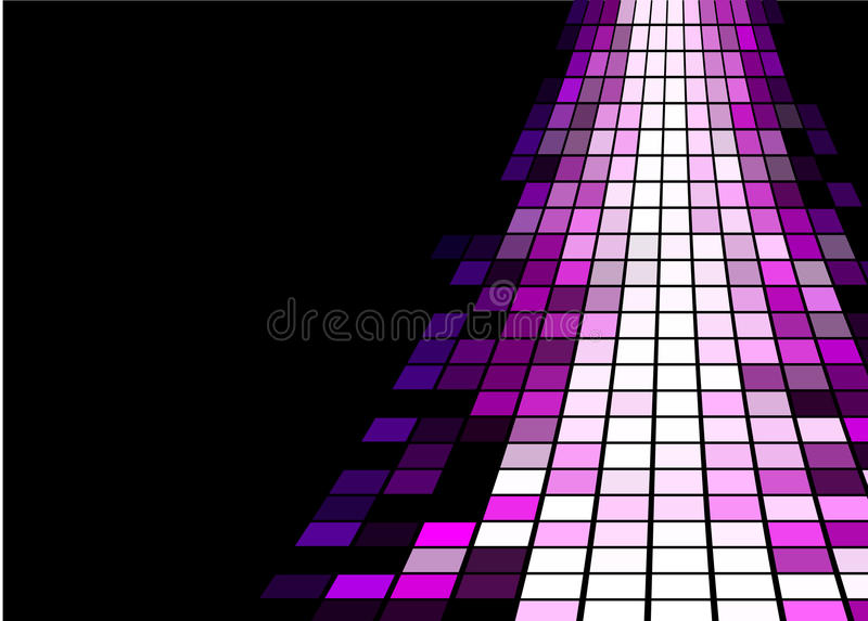 Design Element. Illustration of raising purple mosaic way royalty free illustration
