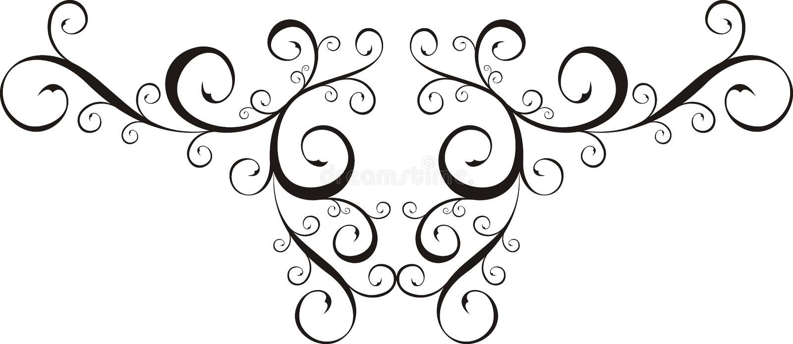 Design element. Ornamental frame with floral ornaments, very easy to edit stock illustration