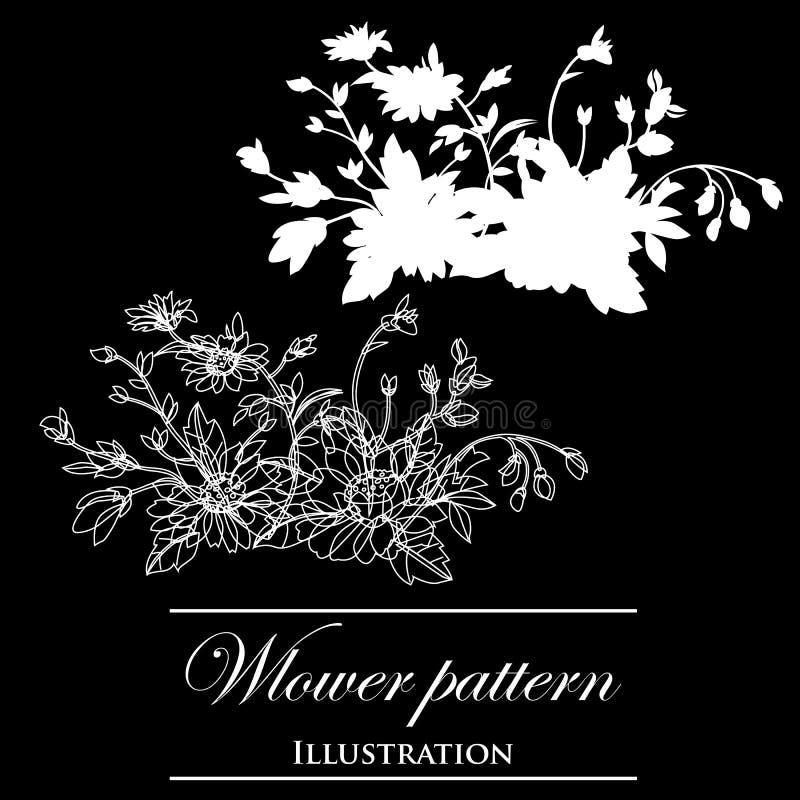 Download Design Element On A Black Background Stock Illustration - Illustration: 23465177