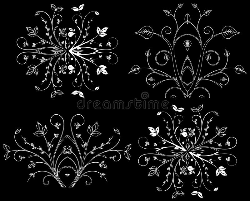 Design Element On A Black Background Stock Photography