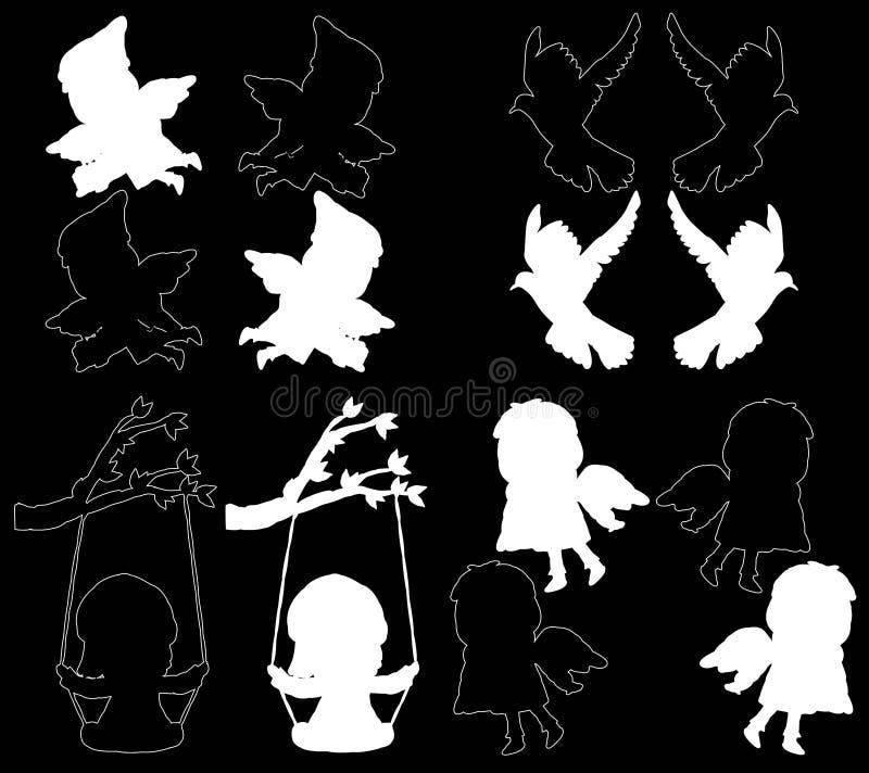 Download Design Element On A Black Background Stock Illustration - Illustration of decor, abstract: 25464619