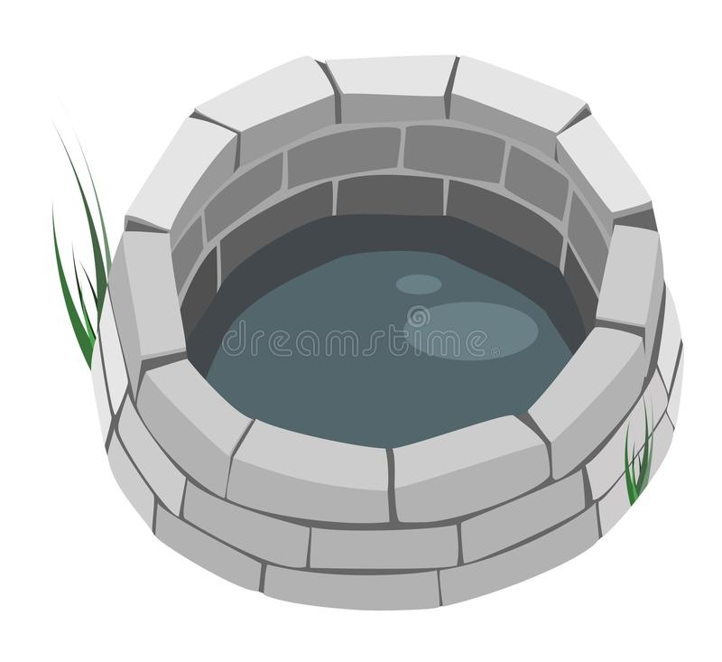 Design Element - A Brick Well. royalty free illustration