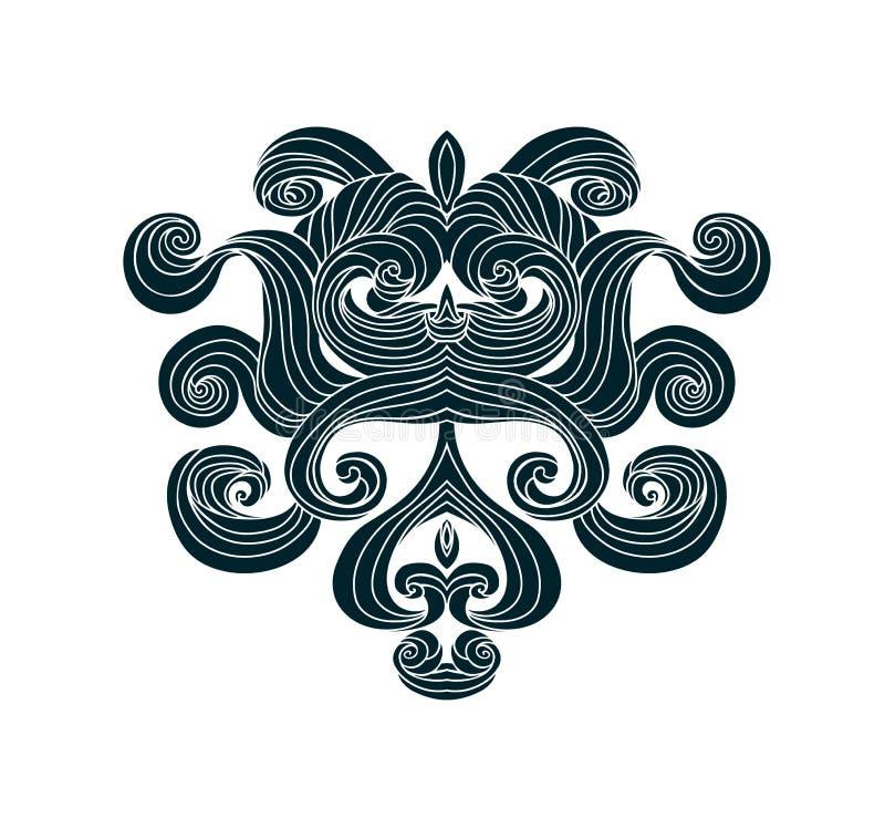 Gothic vector design element.Swirls graphic design element. stock illustration