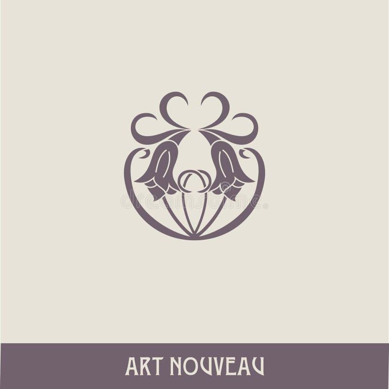 Design Element in der Kunst nouveau Art lizenzfreie abbildung