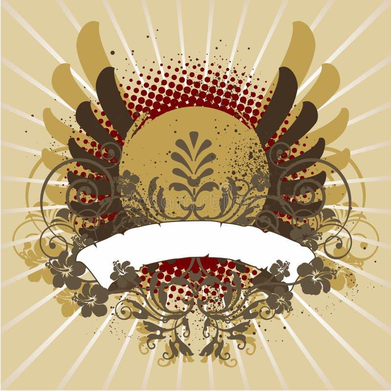 Design element, emblem royalty free illustration
