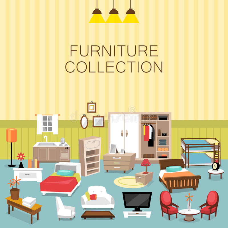 Design Element And Furniture Collection For Home Interior Stock Vector Image 55512422