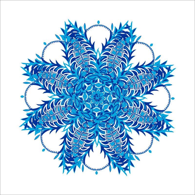 Design element. Stylized Christmas snowflake. Ornate shape. Winter design element. Stylized Christmas snowflake on white background. Ornate shape vector illustration