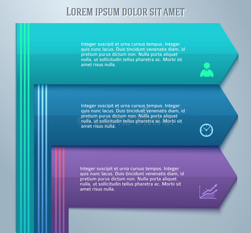 Design element template business presentation guide02. Abstract arrows background corporate concepts with template infographics. Vector illustration EPS 10 for royalty free illustration