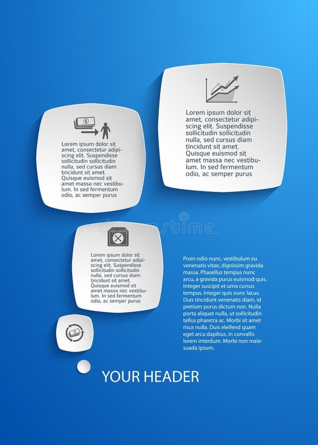 Design element template presentation business report royalty free illustration