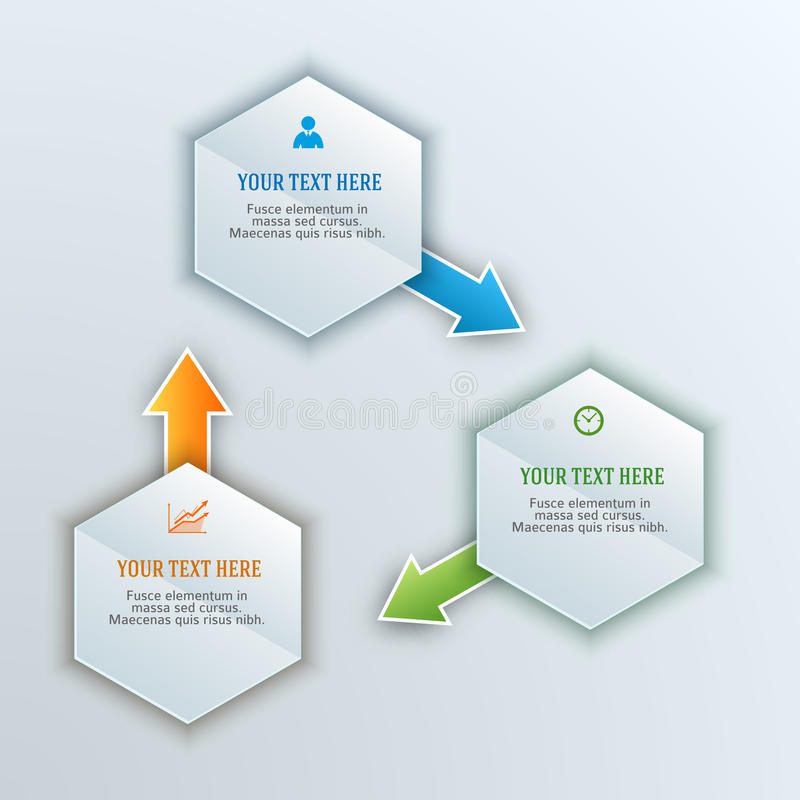 Design element template presentation guide11 stock illustration