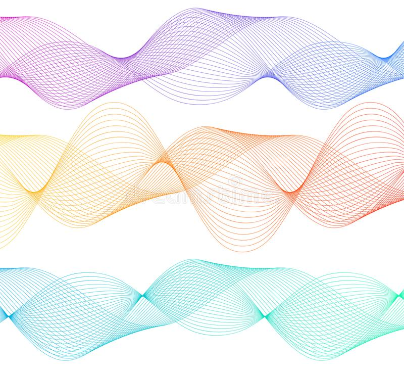 Design element wavy ribbon from many parallel lines36 royalty free illustration