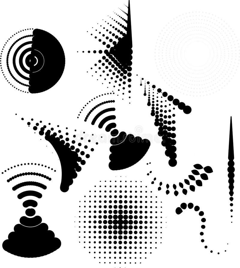 Design elements. Halftones design elements computer generated royalty free illustration