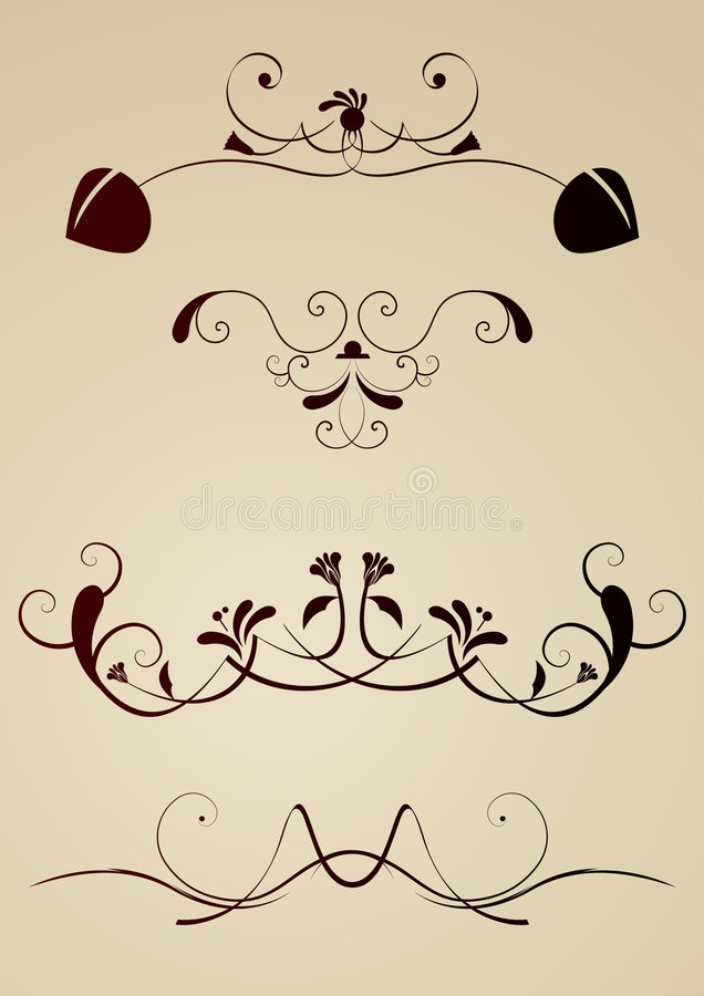 Design elements royalty free illustration