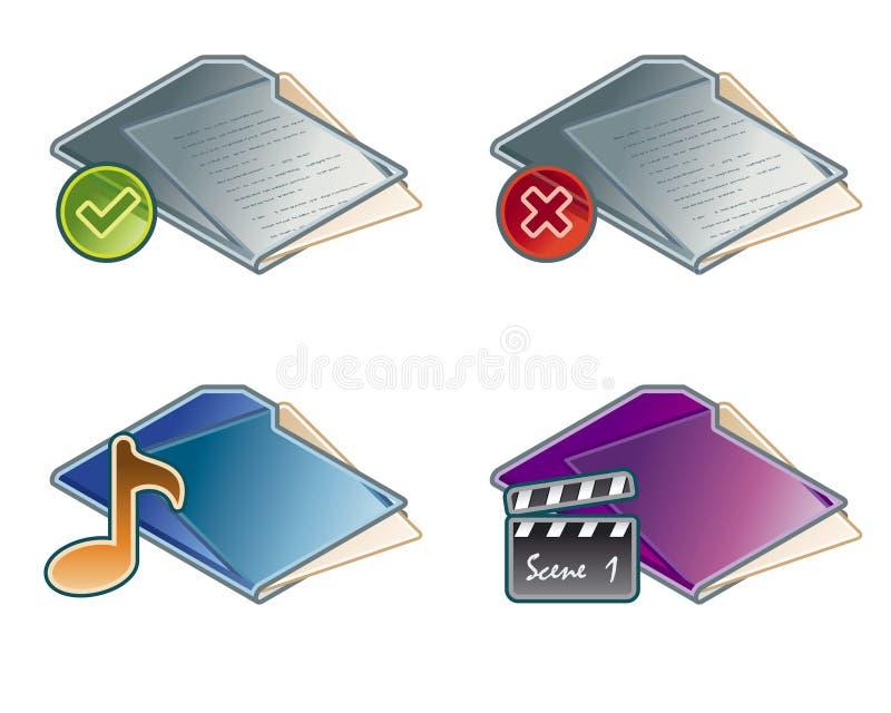 Design Elements 45a. Folders Icon Set royalty free illustration