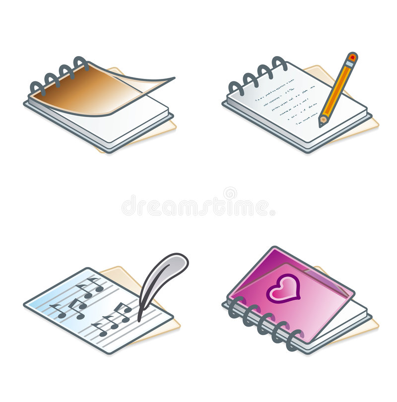 Download Design Elements 45a. Paper Suff Icons Set Royalty Free Stock Image - Image: 1405716
