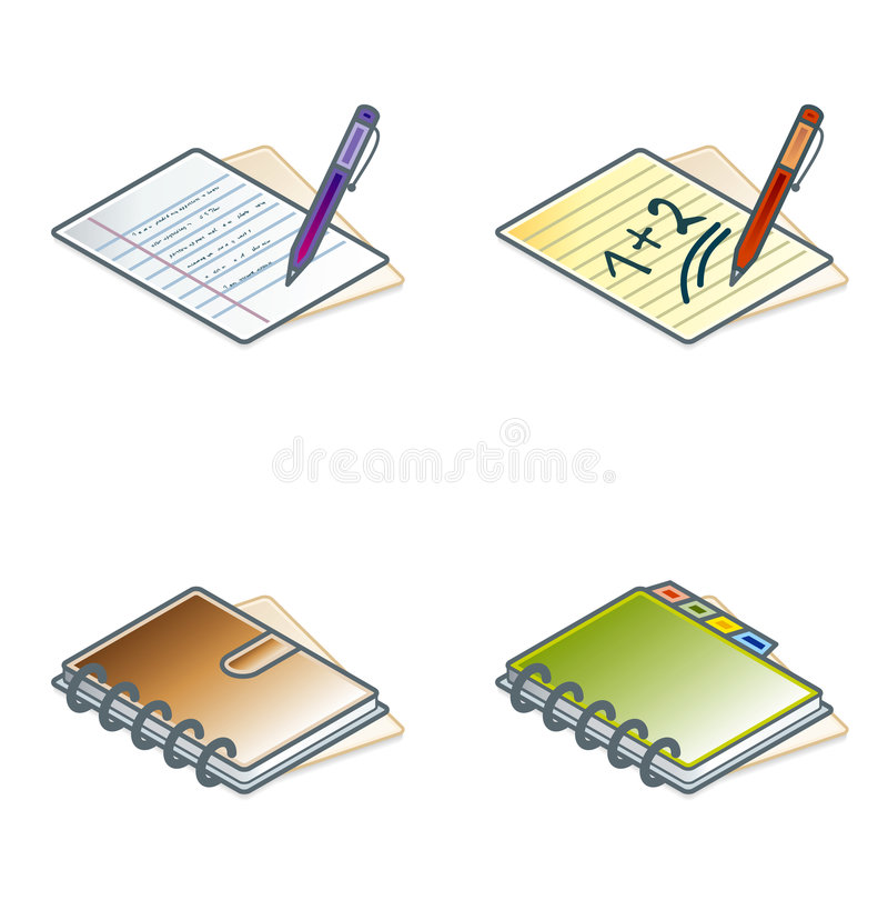 Download Design Elements 45b. Paper Suff Icons Set Royalty Free Stock Photos - Image: 1405718