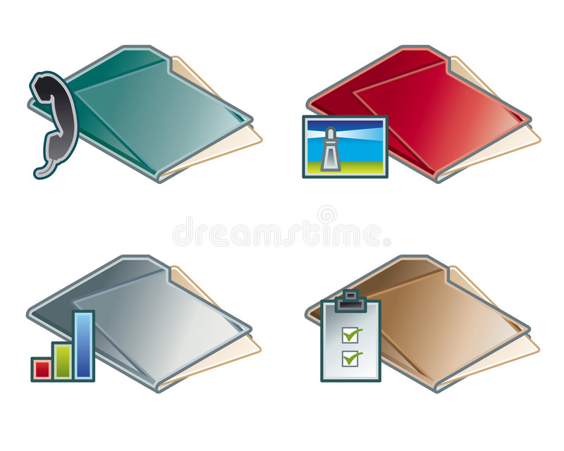 Download Design Elements 45c. Folders Icon Set Royalty Free Stock Photos - Image: 1420148