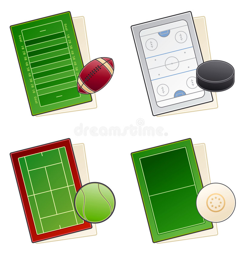 Design Elements 49c. Sport fields Icon Set stock photo