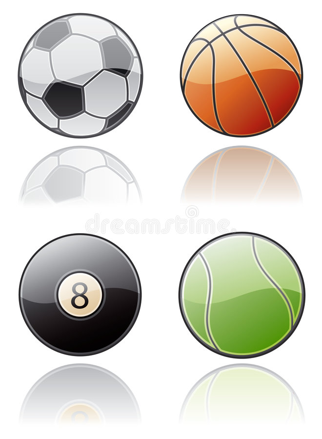 Design Elements 50a. Sport Balls Icon Set royalty free illustration