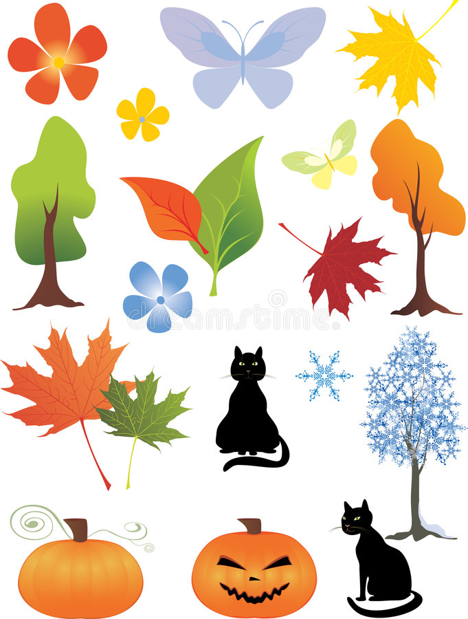 Download Design elements stock vector. Image of christmas, abstract - 6518572