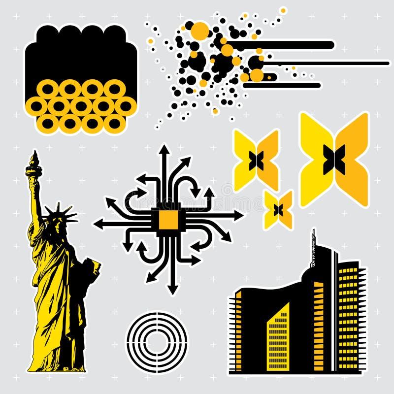 Design elements #7 vector illustration