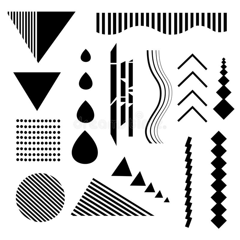 Design elements. Abstract line geometric background. royalty free illustration
