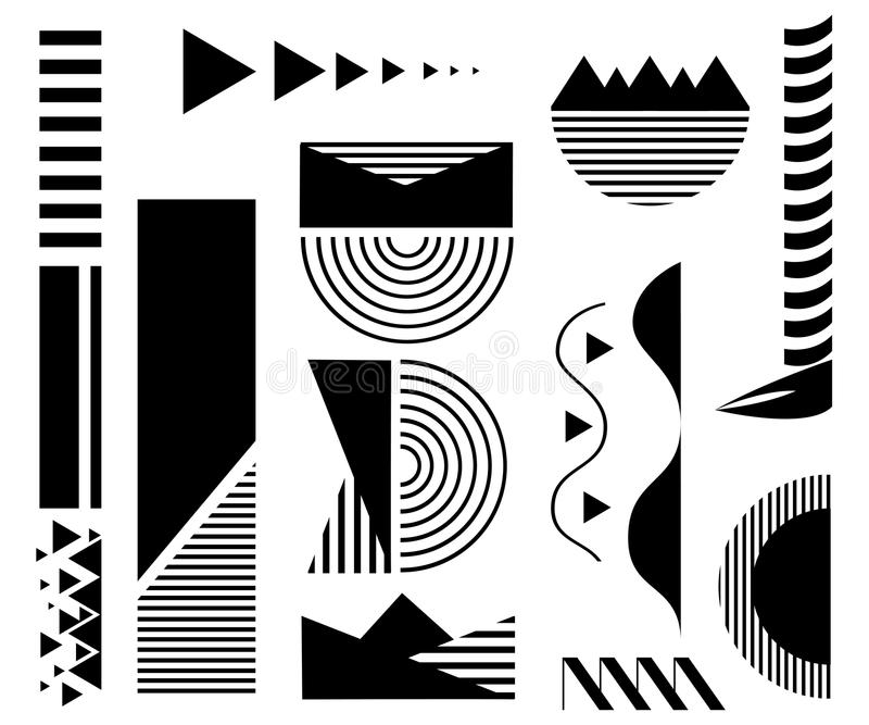 Design elements. Abstract line geometric background. stock illustration