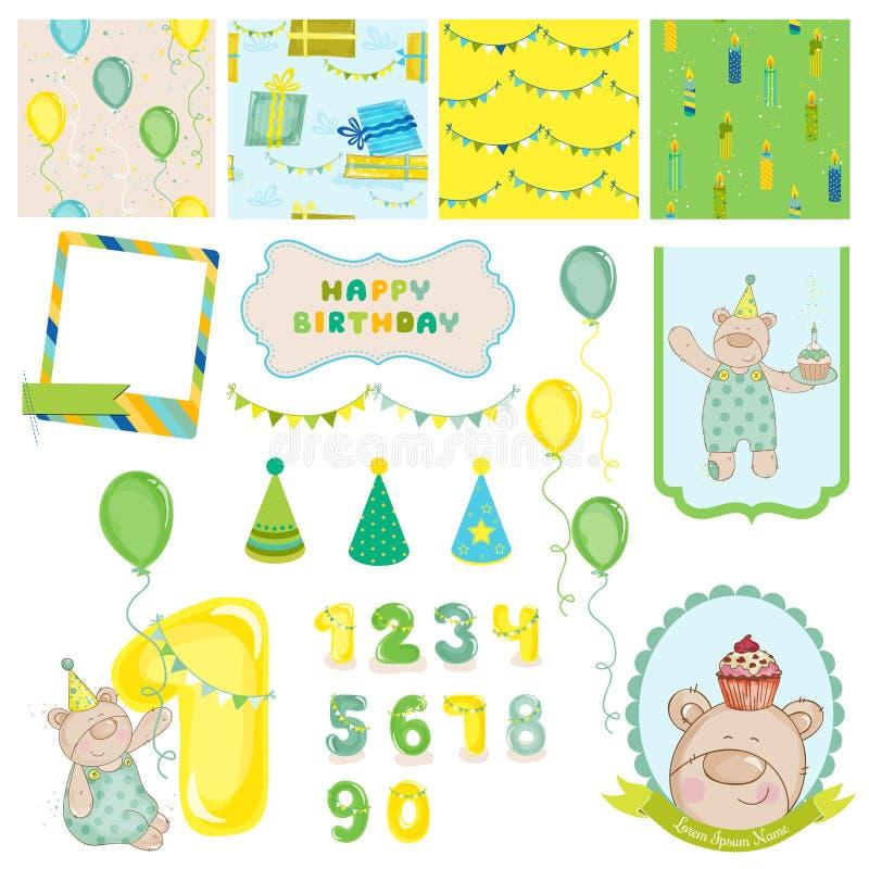 Design Elements - Birthday Baby Bear Stock Vector