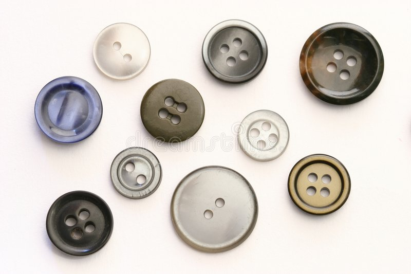 Design Elements: Buttons. Bunch of different, isolated buttons stock image