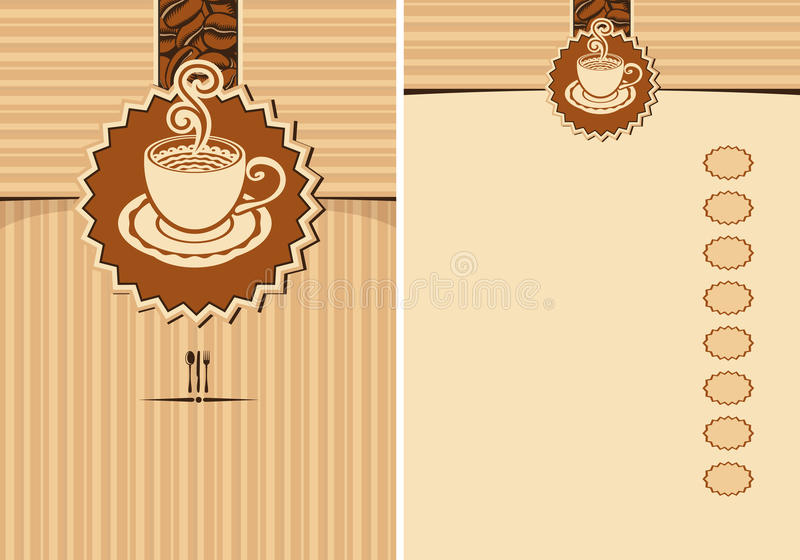 Download Design elements for a cafe stock vector. Image of chocolate - 25645237